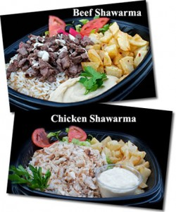 Beef and Chicken Shawarma Plates