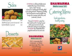 Catering Menu Shwarma Med Grill
